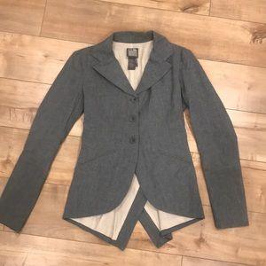 Lilith Paris $500 Gray Blazer Sz XS